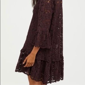 H&M lace Midi dress XS